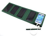 Folding Solar Panel Power Bank Storage for iPhone 4 4G 4S 5 5G 5S 5C for Samsung S3 S4 S5 Note 2 Note 3  for Android Phone
