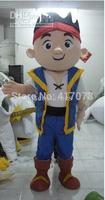 Hot sale New Arrive jake the neverland pirates Mascot Costume adult Fancy Dress Charactor school mascot costume