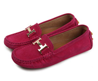 """Hot Sale Women Flat Doug Shoes Cow leather """"H""""Sequined decorate High Quality"""