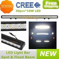 Pickup 30X10W Cree LED Off-road Bar Truck Spot Flood Beam Combo 12V/24V 4x4AWD Car 30000lm 4WD led Work light 300W Driving Light