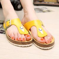 2014 new women summer sandals flip-flops fashion sandals free shipping Cork slippers sweet  sandals