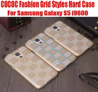 1PC HK Post Free Brand New COCOC Fashion Grid Styles Hard Case for Samsung Galaxy S5 i9600 NO: 6020