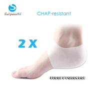 1 Pair Unisex Moisture Silicone Gel Heel Protectors Socks Sleeve Insoles for Cracked Heels Feet Care