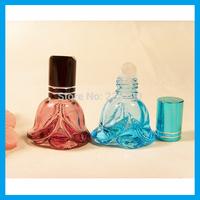 Wholesale - 5ml Color Flower Perfume Glass Bottle Spray Bottle Perfume Dispenser 10pcs/lot G010