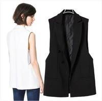 Fashion Women's Ladies Casual Black Waistcoat Suit Vest