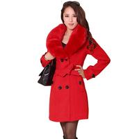new fashion 2014 winter coat women  solid slim wool casual Korean style women coat women clothes 1700