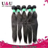 Indian Straight Virgin Hair 6A Grade Rosa Hair Products Unprocessed Human hair weave natural black color Indian Virgin Hair