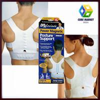 Free Shipping Men Women Magnetic Posture Support Corrector Back Belt Band Pain  Belt Brace Shoulder for Sport Safety CM-FT0009