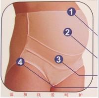 Women's Maternity Underwear Brief Undies Panties Cross Bumps Belly Support