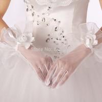 2014 THE ANGEL Wedding gloves bridal gloves wedding gloves a flower gloves st022