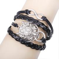 Sunshine jewelry store fashion lion head , infinity bracelets bangles