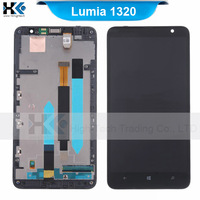 For Nokia Lumia 1320 LCD Screen Display + Touch Digitizer Assembly + Frame Free Shipping 100% Original