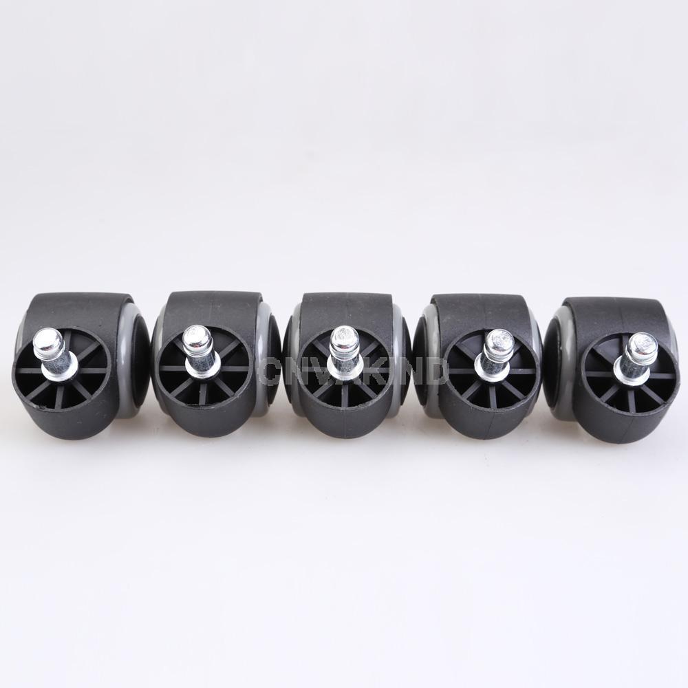 # cu3 5 PCS borracha giratória rodízios de cadeira de escritório da roda de peças de reposição(China (Mainland))