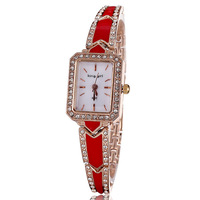 2014 New fashion crystal diamonds watches luxury rose gold plated quartz analog women bracelet watch hour ladies clock wholesale