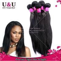 6A Grade Peruvian virgin hair straight 100% unprocessed human hair weave virgin peruvian silky straight hair extension 3pcs lot