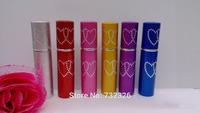 Fashion Heart Shape Refillable Empty Bottles 5ML Travel Perfume Atomizer Spray Bottle,Colorful Mini Sprayer