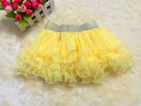 2014 Girls Pettiskirts Cake Skirt Tutu Princess Girls Skirts Veil Korean Wild Spring And Summer Girls Tulle Skirt