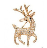Decorative Brooch Garment Dress Accessories Wedding Bridal Luxury animal deer Brooch Pin