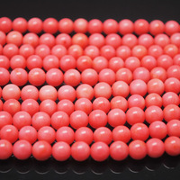450 Pieces/Lot,Nature Pink Coral,Coral Beads Round Ball,Size: 4mm