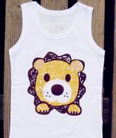 2014 Unisex Roupas Menino Brand Children Tank Boys Cartoon Vest Sleeveless Tee Kids Girl Clothes Cotton Tshirt Freeshipping