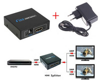 2 Port 1.4 Hdmi Splitter 3D 1x2 HDMI Switch DC 9V Power Supply Adapter 1 In 2 Out Switcher For Audio HDTV 1080P Vedio DVD