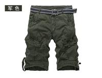 Men's Casual Straight Pants Fashion Slim multi-pocket  Fit Hot Sale New 2014 Summer Male Denim Shorts Trousers Men's Clothing