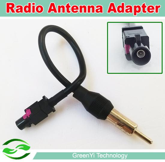 Free Shipping , Universal One Way OEM Car Radio Antenna Adapter Fakra Auto Stereo Radio DVD Player(China (Mainland))