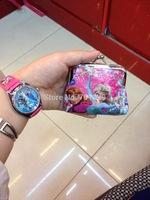 New fashion100pcs/lot baby girls Frozen Coin Purses/kids Snow Queen wallet/chilldren princess Elsa Anna money bag,party supplies