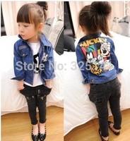 New 2014 jackets for girls Mickey  Minnie children outerwear kids jackets  Outerwear & Coats jackets for girls  jacket denim