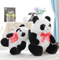 28cm Simulation of panda emulational panda plush toy stuffed pillow girls' gift children' gift free shipping