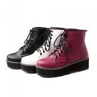 plus size Eur 34-43 fashion motorcycle booties for girls martin platform shoes woman winter autumn women ankle boots SX140176