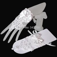 2014 High Quality Fingerless  Wedding Accessories Gloves Bride Vestido Longo Fingerless White/Beige Women Dress Wedding Gloves