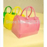 Free shipping 2014 new fashion popular candy bag colorful totes women handbag solid  single shoulder bag good quality hot sale