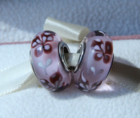 2pcs 925 Sterling Silver Pink Butterfly Kisses Murano Glass Beads Fit European Jewelry Charm Bracelet & Necklaces
