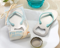 Pop the Top' Flip Flop Bottle Opener 100pcs/lot Wedding Favors Gift  bule color free shipping