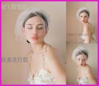 QB-12 Hot Sale High Quality Wholesale Wedding Veils Bridal Accesories Rhinestone Bridal Veils White/Ivory