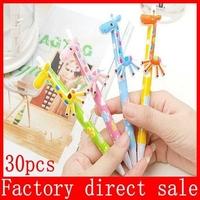 Wholesaler Cute giraffe ballpoint pen Office Supplies 30pcs