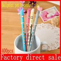 Gel Pen with Diamond Cute Kawaii Cartoon Zakka Color Pen For Kids Student School Supplies Wholesale Free shippin 400pcs