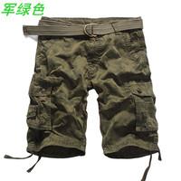 New 2014 Famous Brand Casual Regular multi-pocket military short pants Slim Fit Board Shorts Denim shorts men sport