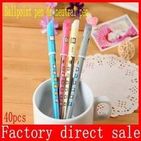 Gel pens Kawaii Stationery cute Caneta Girl kids Ballpoint Pen favor Novelty gift zakka Office supplies material schoo 40pcs