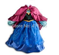 Retail children clothes kids clothing, girls dresses, girl frozen cosplay dress XZQ