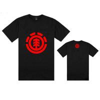 21 styles hip hop element  t-shirts  men tee shirts Skateboard o neck tees cheap boys cotton fitness fit t shirt  Freeshipping