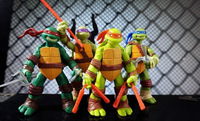 Free shipping 4pcs/set Classics anime Teenage mutant ninja turtles party supplies action figure toys 4.7inch