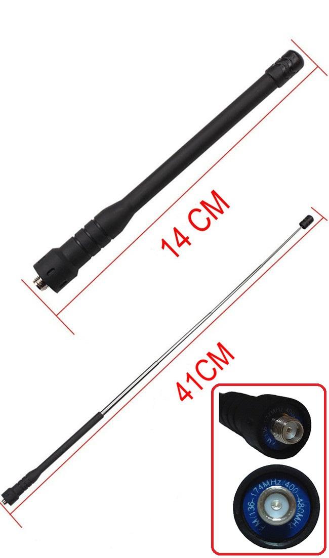 Brand New Telescopic Dual Band Whip Antenna For BAOFENG UV-5R PUXING PX-777 HYT TC-268 LT-2288 V-1000 TK-3107 SMA Female(China (Mainland))