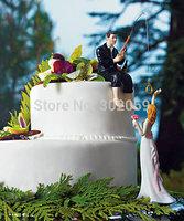 """Hooked on Love"" Fishing Couple WEDDING Cake Topper"