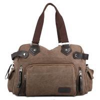 The new fashion men Handbags, thick canvas messenger bag, senior PU edging design, thick rivets, man travel bag