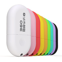 (5Pcs) 360 Mini Portable Wifi Dongle Wireless Router with Built-in PIFA Antennas (Assorted Colors)