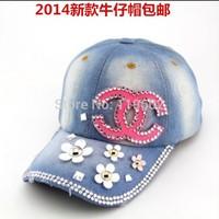 Retail! hot sale new snapback hip-hop Kitten Jeans hat women's baseball cap, peaked cap