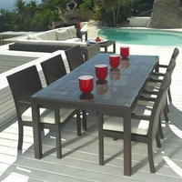 Outdoor dining set rattan table and chair Christmas furniture