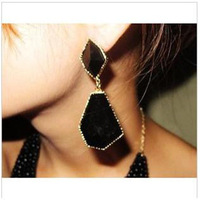 2014 New Wholesale Fashion Black Women water Drop Earrings new fashion ladies jewelry design